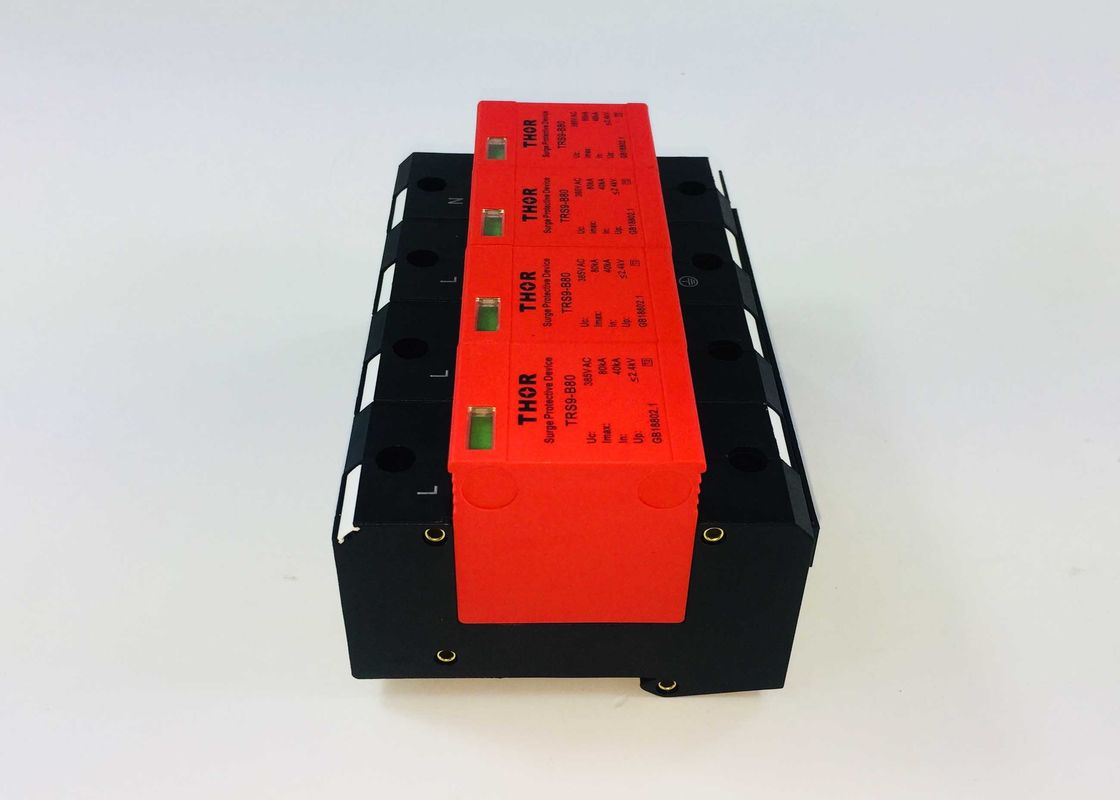 40KA  - 80KA Electrical Surge Protection Devices Against Lightning Fluctuations