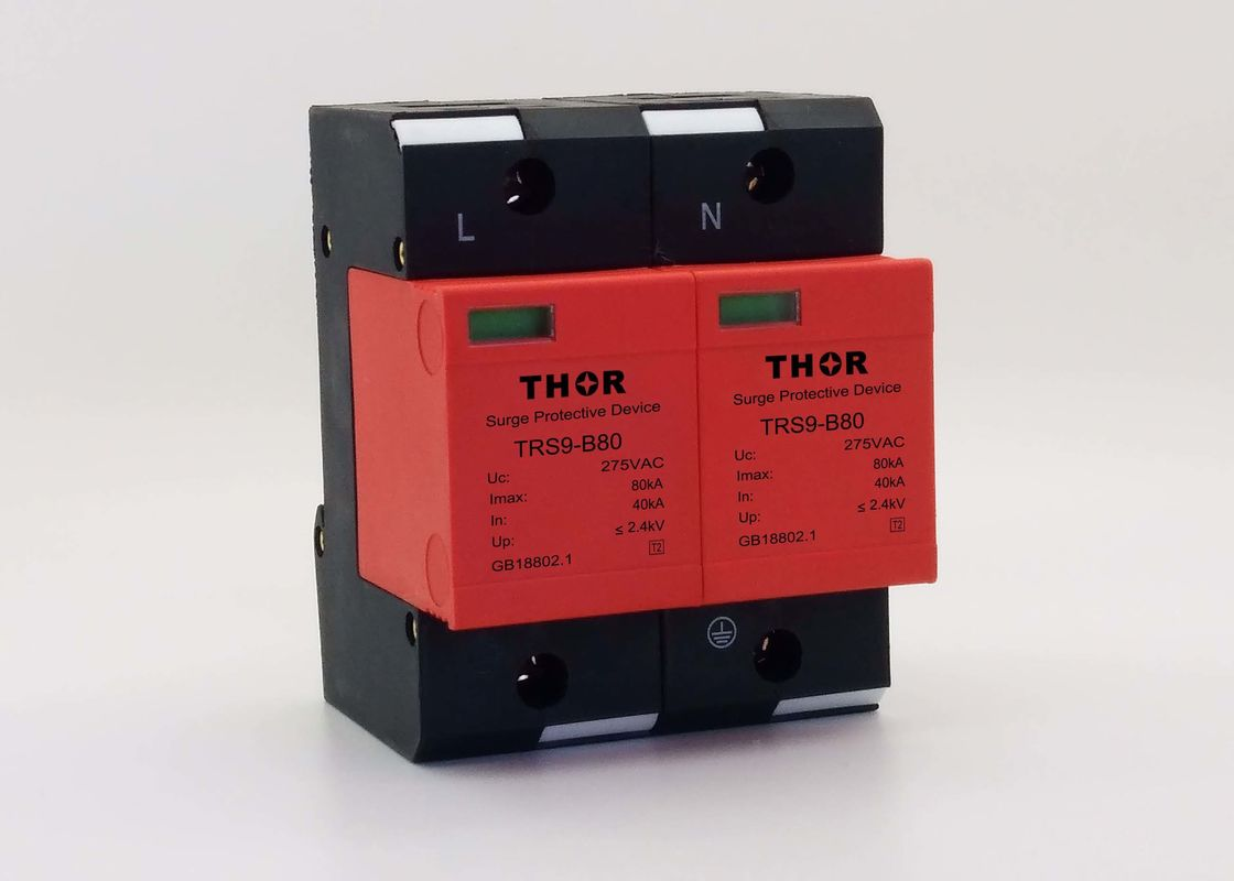 High Standard Industrial Surge Protector , Type 2 Voltage Spike Protection Device
