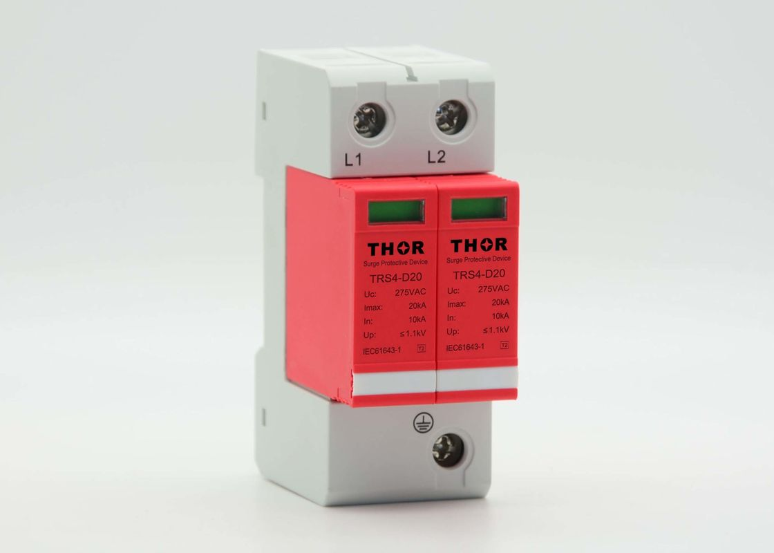 Custom Lightning Protection Device Stable Performance , 385V 20KA Industrial Surge Suppressor