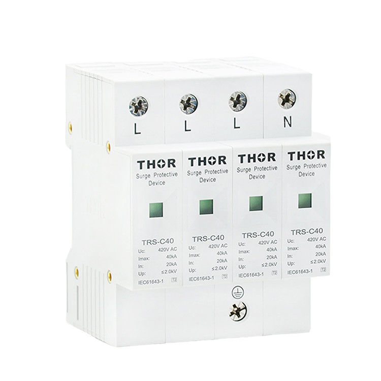 Indoor lightning arrester ac SPD 40KA power surge protection device